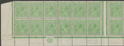 SG 48 ACSC 65(4)z., 65(4)zb., 65(4)r.,  KGV Head ½d Green double monogram strip of 24 (AHSM/10)